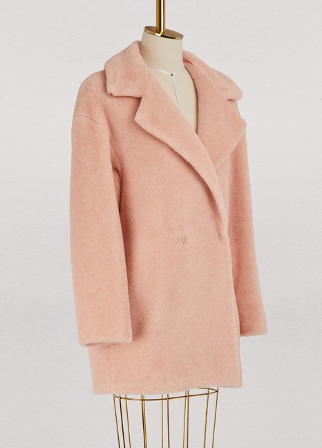 Harris Wharf London Virgin wool and faux fur short coat