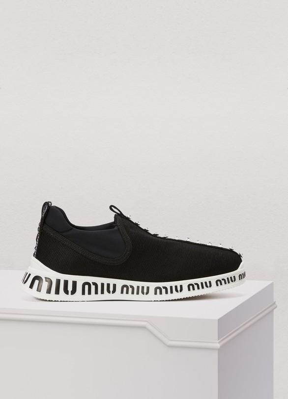 7cd9fbe59f48 Women s Miu sole socks sneakers