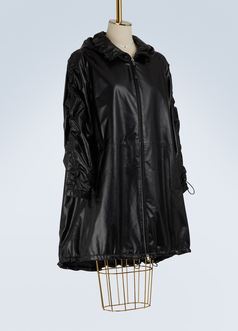 Prada Hooded leather parka