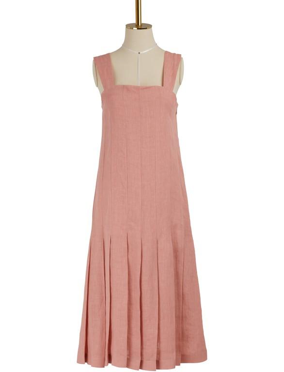 MANSUR GAVRIELPleated linen dress