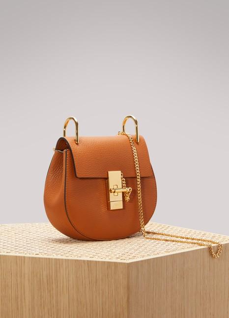 CHLOEMini sac porté épaule en cuir grainé Drew