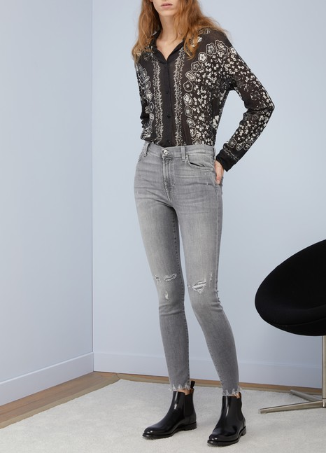 7 FOR ALL MANKINDJean taille haute coupe slim Skinny Crop