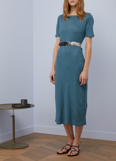 Majestic Filatures Long linen and silk dress