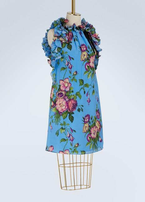 GucciAugust Bouquet silk dress