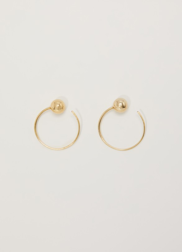 Céline Dot small hoops in brass