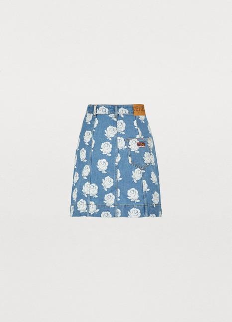 24faa99a0b Women's Floral print denim skirt | Kenzo | 24 Sèvres