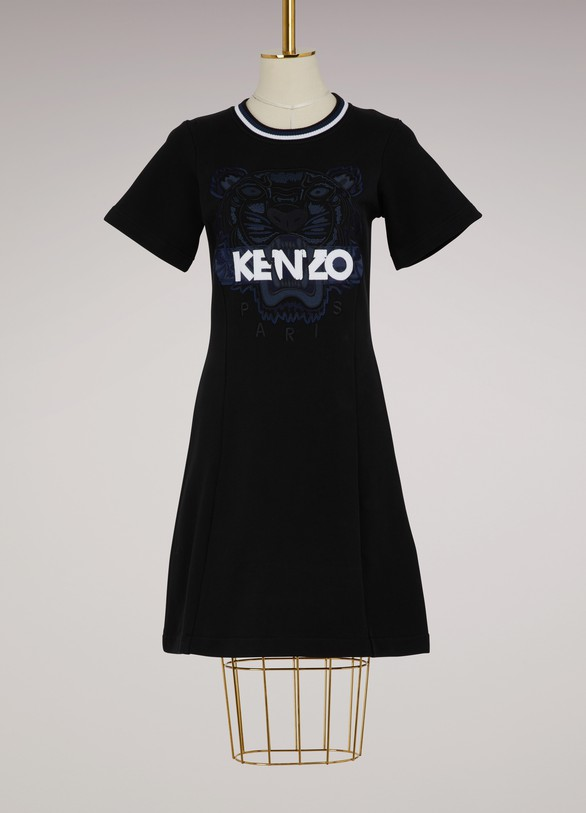 Kenzo Flared Cotton Dress