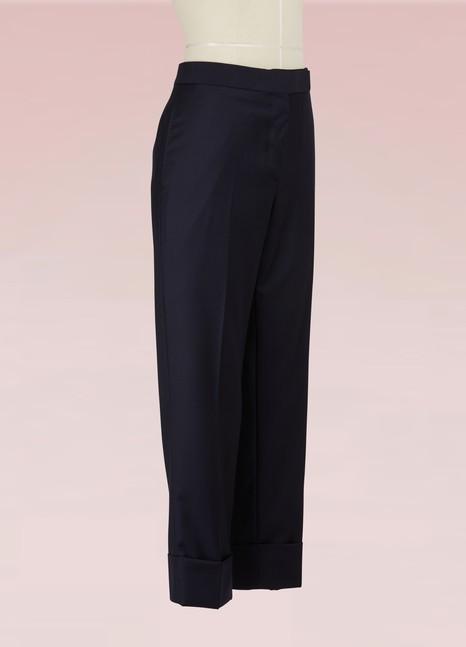 Pantalon raccourci à carreaux en laineThom Browne Vd46QFsvX