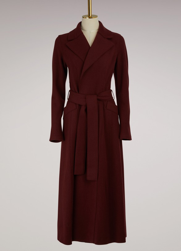 Harris Wharf London Belted Long Duster Coat Cashemere