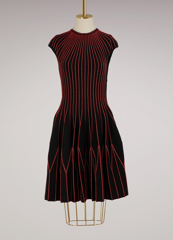 Alexander McQueen Silk and wool mini dress
