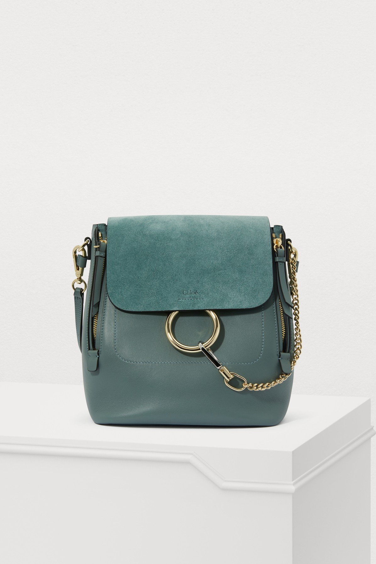 CHLOÉ | Faye Suede And Smooth Calfskin Backpack | Goxip