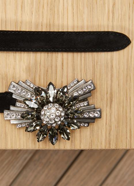 Miu MiuCeinture fine en cuir orné de bijoux