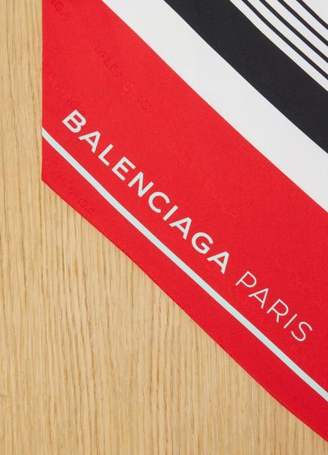 BalenciagaÉcharpe imprimée Bayadère en soie