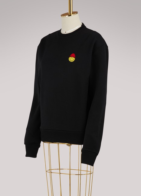 Ami Smiley cotton sweatshirt