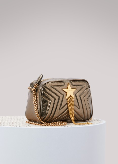 Stella McCartneyMini sac porté épaule métallisé