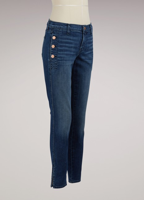J Brand Skinny jean with buttoned pockets