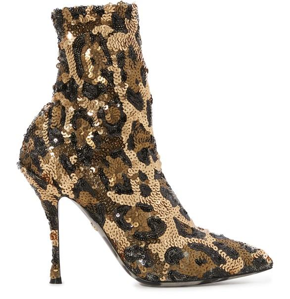 DOLCE & GABBANALeopard print sock ankle boots