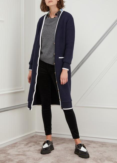 Thom BrowneLong wool cardigan