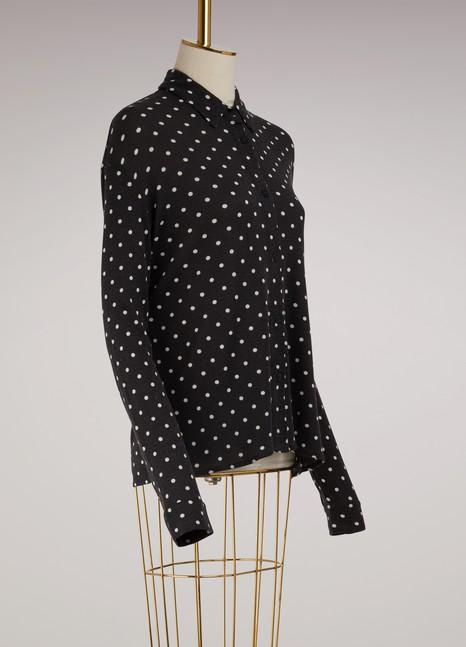 Majestic FilaturesCotton and Cashmere Dotty Shirt
