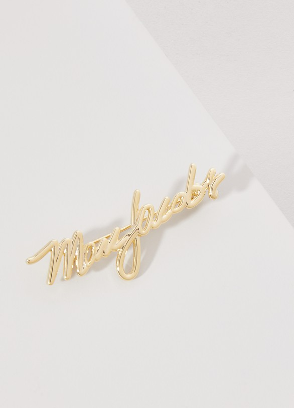 Marc Jacobs Brass signature brooch