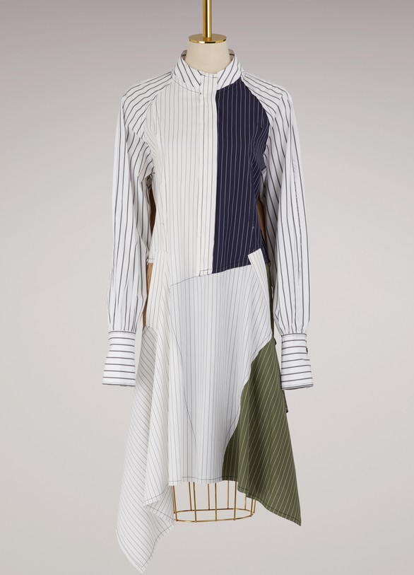 JW Anderson Robe chemise patchwork