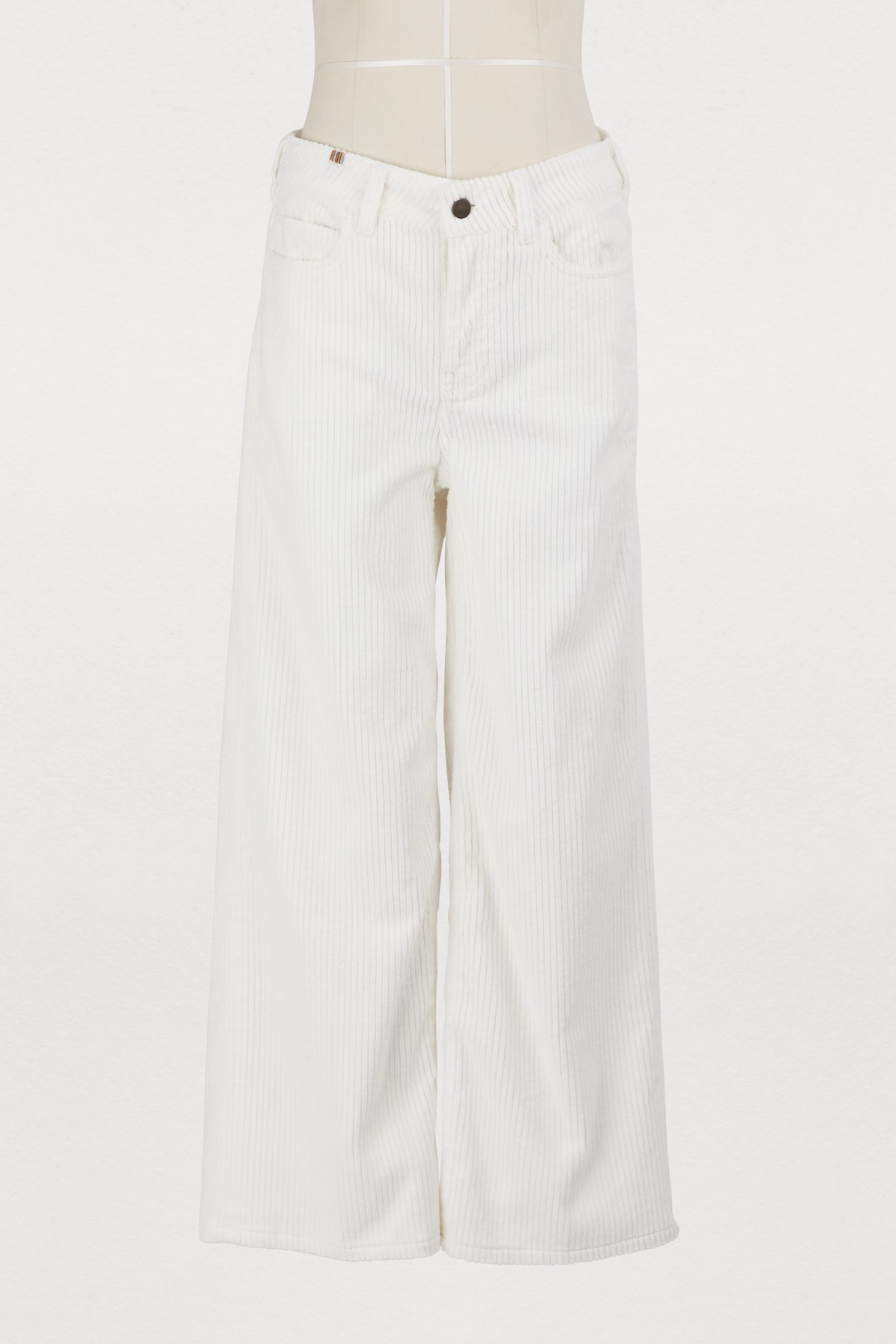 Pantalon Silene large en velours côtelé
