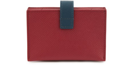 CELINETwo colour grained leather accordion card holder