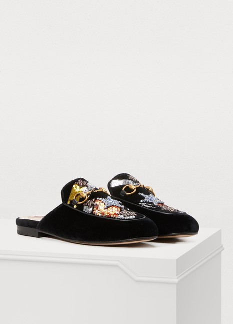 GucciPrincetown velvet slippers