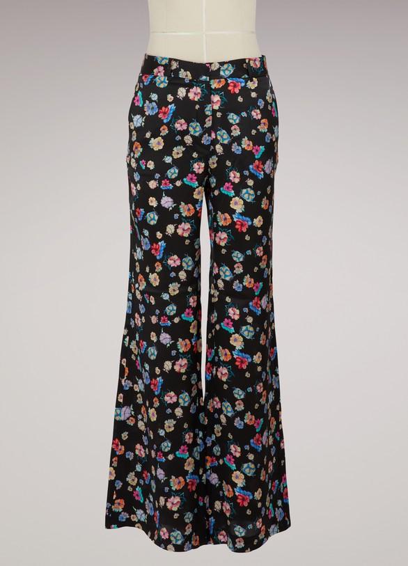 Paul & JoePintade floral-print silk pants