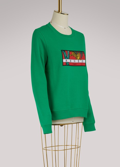 Kenzo Sweat Archive Tiger en coton