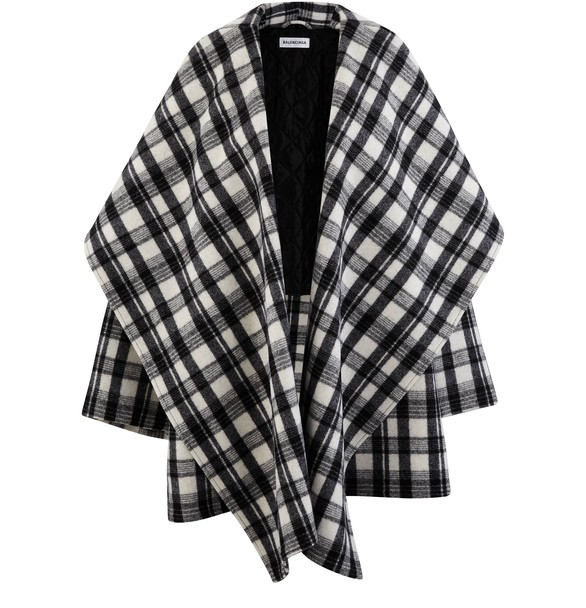 BALENCIAGAWool coat with stand-up collar