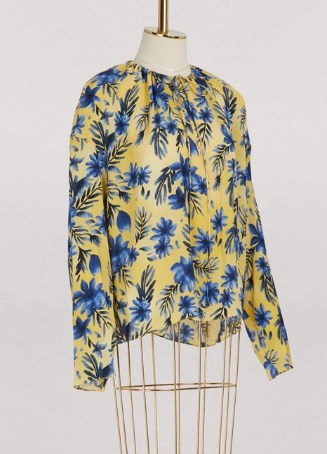 Balenciaga Long sleeved printed top
