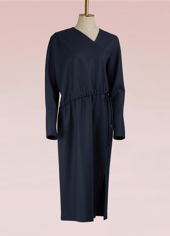 Jil Sander Asymmetric Woolen Dress