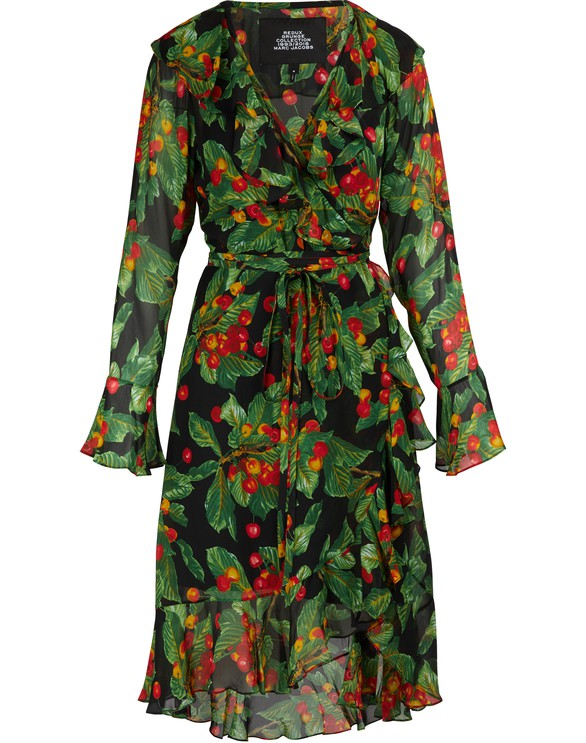 MARC JACOBSLong-sleeved wrap dress