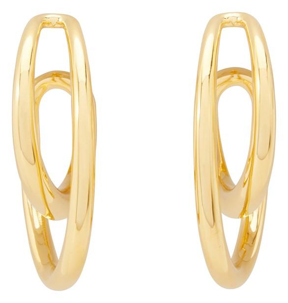 CHARLOTTE CHESNAISInitial hoop earrings