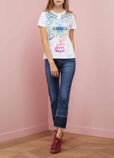 KenzoT-shirt Geo Tiger x Rainbow