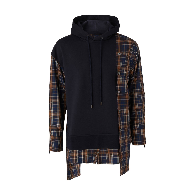 Chemise hoodie à carreaux