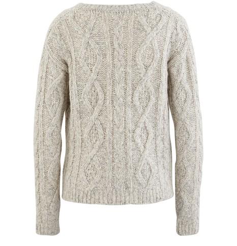 MAJESTIC FILATURESV-neck cable knit jumper