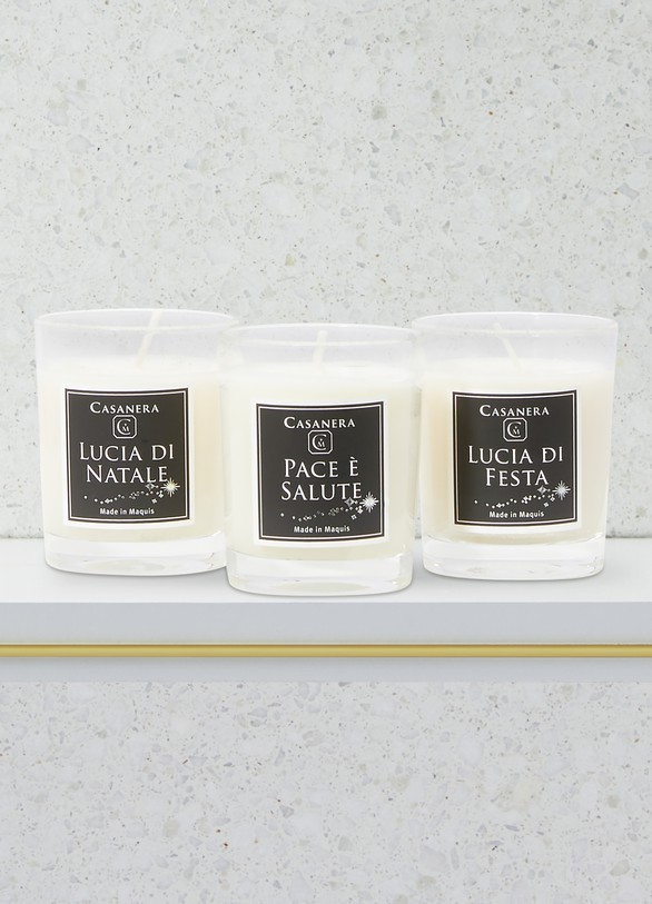 Casanera Pace e salute 3 candles box
