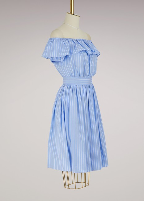 Miu Miu Striped popeline dress