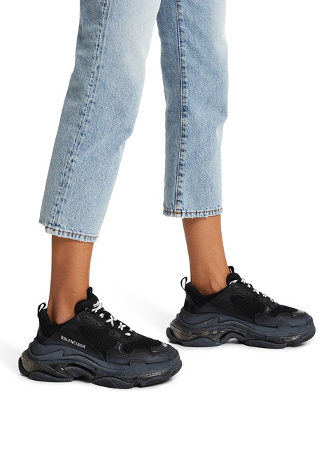 special for shoe best quality popular brand Triple S Clear Sole trainers