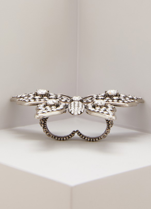 GucciButterfly multifinger ring