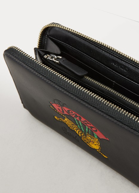f118ec9d417 Women's Leather jumping tiger wallet | Kenzo | 24S | 24S