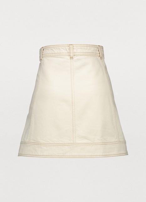 GANNIShort buttoned skirt