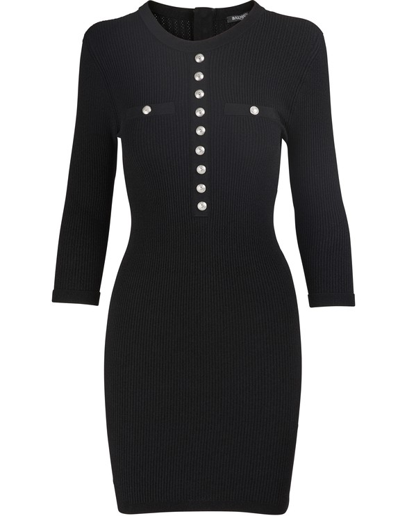 BALMAIN Short button-down dress