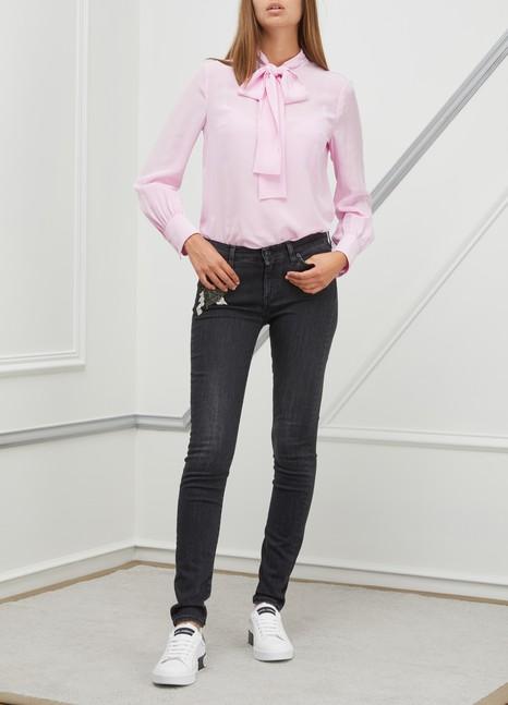 Miu MiuSilk bow shirt