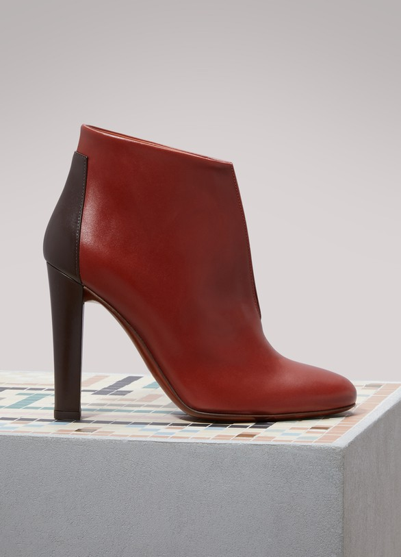 Michel Vivien Evy Leather And Suede Ankle Boots