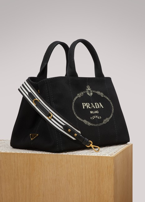 PRADASac à main en tissu logo Prada