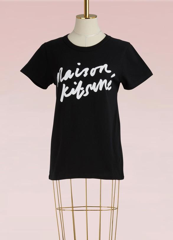 Maison KitsunéHandwriting Maison Kitsuné t-shirt