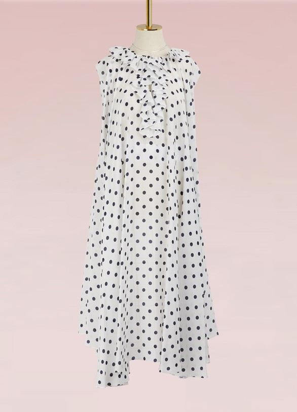 BALENCIAGA. BALENCIAGA Polka dot short-sleeved dress